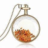 Boda Xinmaoyuan joyas que deseen circular en una botella de Flor de Oro chapado en oro Collar Colgante Collar Verde , Figura Color nuevo regalo de Boda Regalo de Cumpleaños regalo de vacaciones