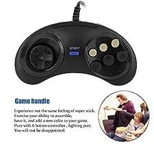 Six Buttoms Game handle Command Pad Plastic Accessories For Sega Megadrive