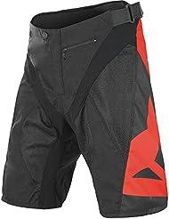 Dainese - Pantalón corto infantil, talla XXL, color negro / rojo