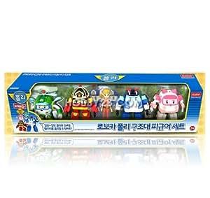 Robocar Poli toy - Mini Figure Set- Poli/Amber/Helli/Roi/Jin