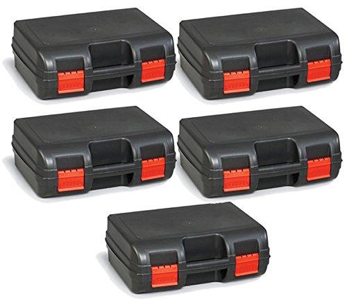 5x TOOL CASE Kunststoffkoffer gepolstert Werkzeugkoffer Maschinenkoffer 40x30x14cm