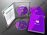 Produkt-Bild: Microsoft® Windows 10 Pro DVD 64Bit Vollversion OEM Produkt Key Lizenz + Aufkleber Deutsch mit Softwareverpackung der Fabre24 Softwarehandel