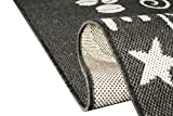 Teppich Modern, Flachgewebe Sisaloptik Küchenteppich Coffee Schwaz Weiss (TraumTeppich) Größe 80×150 cm - 5