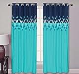 Elan cotton curtains Ikat Embroidery Tur...