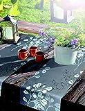 Friedola Tischläufer Miami Summer Heart 40x150 cm anthrazit/weiß, waschbar - 3