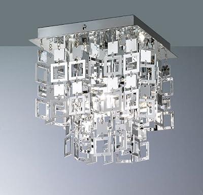 Reality|Trio Deckenleuchte Deckenlampe N9 ~ chrom, 24x24cm von Mendler auf Lampenhans.de