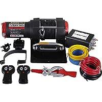 OPENROAD- Cabrestante Eléctrico 12V 1360kg/3000lbs, 15m De Cuerda De Acero, 2 controles remotos inalámbricos , Placa De Montaje