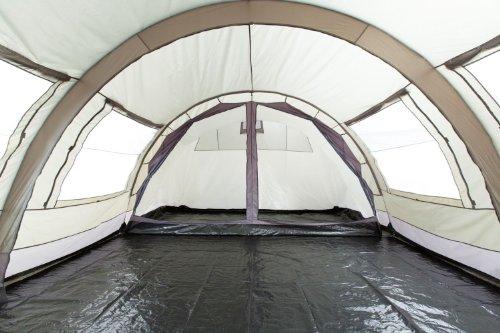 CampFeuer - XXL Tunnelzelt, 2 Kabinen, 6 Personen, olivgrün-grau, 5000 mm WS - 6