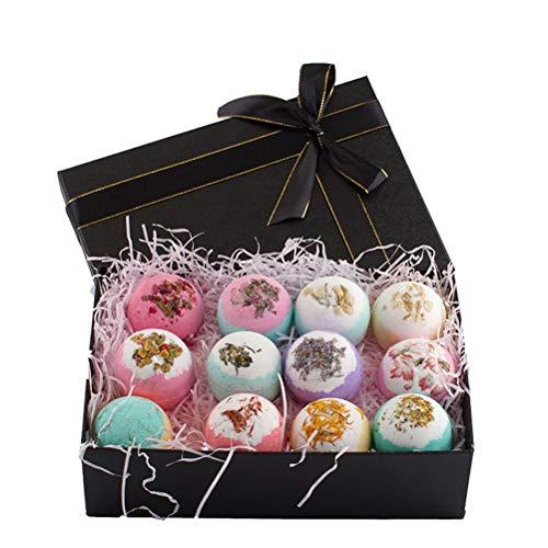 Bad Bomben 12 Pack-Fizzies Spa Kit Perfekt für Feuchtigkeitsspendende Haut, Geburtstag Valentines Muttertag Jahrestag Weihnachten Beste Geschenke