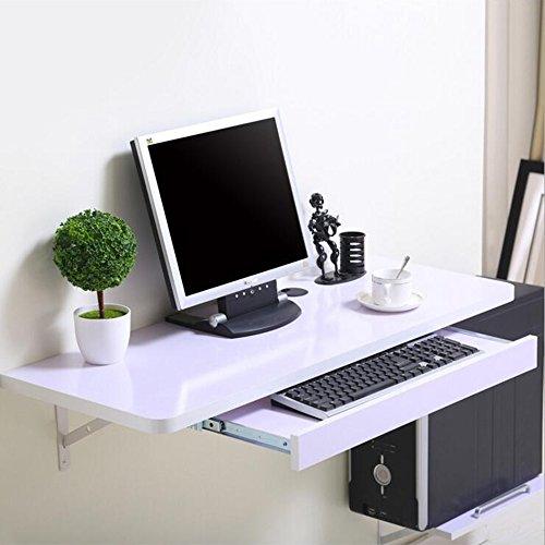 Kinder-computer-schreibtisch (FEI Wand-Tisch Computer PC Laptop Schreibtisch für Home Office Kinder, Kinder, Weiß 3 Größen (Farbe : Weiß, größe : 80 * 40cm))