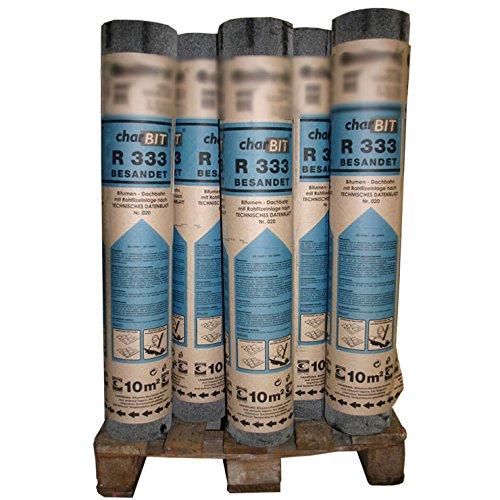 1 Palette Dachpappe R333 besandet schwarz 30 Rollen mit je 10 m² = 300 m²