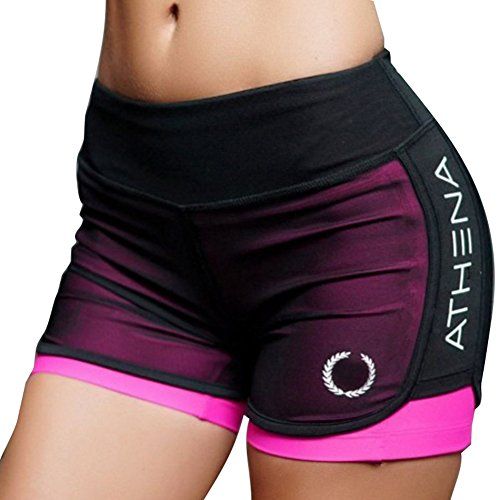 Damen Sportshort Funktions-Sport Hot Pants Fitness Gym Yoga Kurze Hosen Sporthose Trainingshose Jogginhose Highdas S-XL
