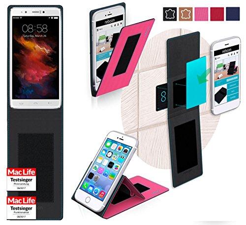 reboon Hülle für HomTom HT10 Tasche Cover Case Bumper | Pink | Testsieger