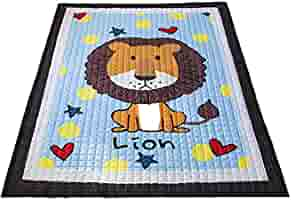 Pink Non-Slip Non-Toxic Super Large 145cm*195cm*2.5cm Washable Colorful Animals Baobe Baby Play Mat Cotton