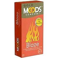 MOODS GOLD Blaze Condoms - 12 strukturierte Passform-Kondome mit Wärmebeschichtung preisvergleich bei billige-tabletten.eu
