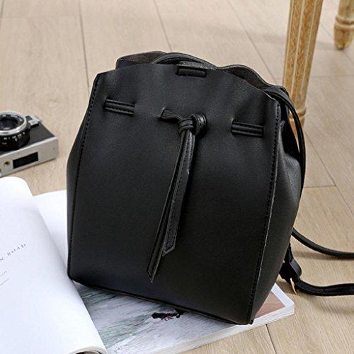 Kangrunmy Hobo Bag Adatti la signora Handbag Shoulder Tote Bag borsa in pelle Nero