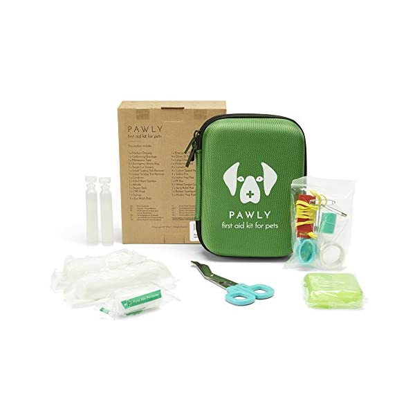 Pawly Pet First Aid Kit - Includes Over 40 Premium Items - Tick Remover, Syringe, Vet Wrap, Bandages, Wipes and Lancets 3