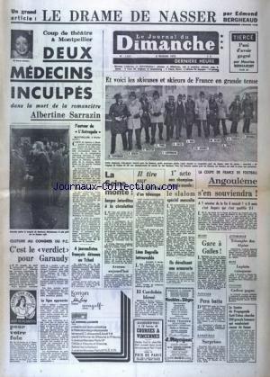 JOURNAL DU DIMANCHE (LE) [No 1211] du 08/02/1970