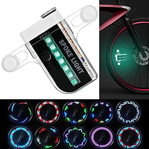 Bike Wheel LED-Leuchten- MAXIN Waterproof 14 Bunte LEDs Speichen-Licht für Halloween-Nacht, Outdoor-Reiten mit 30 verschiedenen Muster-Änderungen.