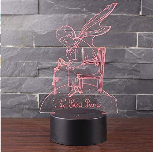 Prinz und Rose Thema 3D Lampe LED Nachtlicht 7 Farbwechsel Touch Stimmung Lampe Weihnachtsgeschenk