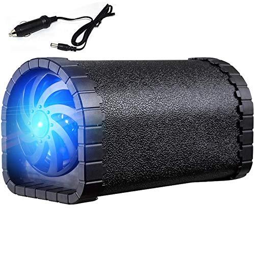 ZZWBOX Kleine Lautsprecher Bluetooth,kleine Lautsprecher für Auto,Mini soundbar Bluetooth,Woofer Black Matte Leather, Freier Zigarettenanzünder, 8G Song Card,Black Dual-woofer-box