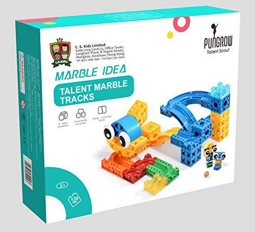 Y Mega Blocks für Kinder, Marmor-Laufwerk, 129 Teile (geeignet für Kinder ab 3 Jahren) ()