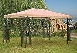 Grasekamp Blätter-Pavillon 3x4m - Sand