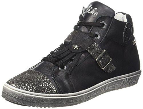 IKKS Brenda, Sneakers Hautes Filles, Noir (11 Vte Noir Dpf/Radical), 30 EU