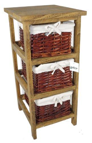 Geko 27 x 31 x 58 cm Layburn 3 cajones de madera...