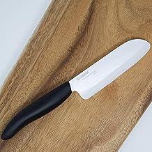 Kyocera GEN Series Ceramic Mini Santokue Knife, White/Black, 11.5 cm