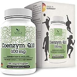 Vita 1 Coenzym Q10 100 mg 120 Kapseln (4 Monate Vorrat) Glutenfrei, vegan, koscher & halal, 57 g