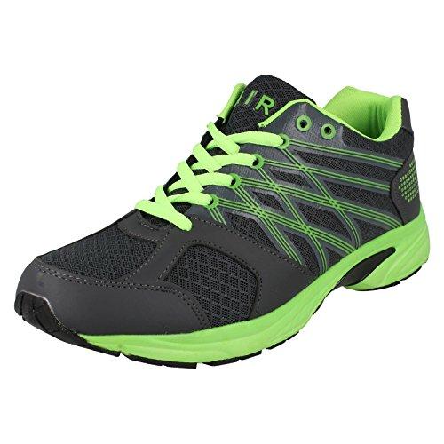 Airtech , Baskets mode pour homme - Grey/Neon Green