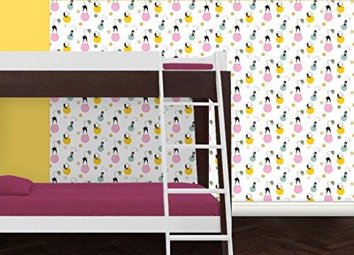 GMM Jugendzimmer Tapete Katzen Polka individuell gefertigt mit fröhlichen Polka Dots - Muster 20 x 46,5cm