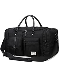 Holdall Duffel Weekend Bag Zumit Large Travel Hand Luggage Cabin Size Sports Gym for Men 45L 60L Black #806