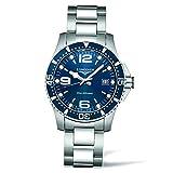 LONGINES MEN'S STEEL BRACELET & CASE SWISS QUARTZ BLUE DIAL WATCH L37404966