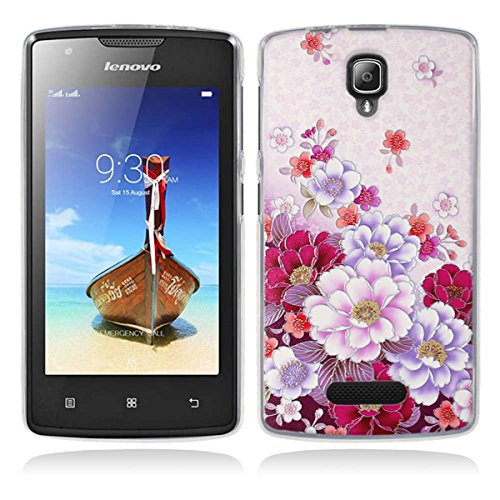 Lenovo A1000 Hülle, Lenovo A1000 Silicone Hülle, Gift_Source [ Bunte Blumen ] Hülle Case Transparent Weiche Silikon Schutzhülle Handyhülle Schutzhülle Durchsichtig TPU Crystal Clear Case Backcover Bumper Case für Lenovo A1000 (for phone not for tablet)