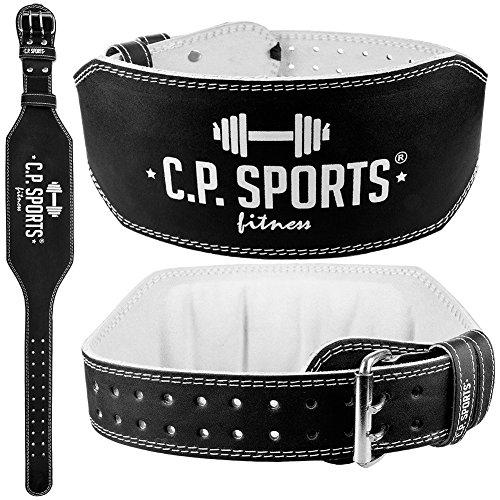 C.P.Sports Gewichthebergürtel Leder extra breit T4-1 Gr.S Ideal für Bodybuilding, Fitness u. Krafttraining- Power-Belt
