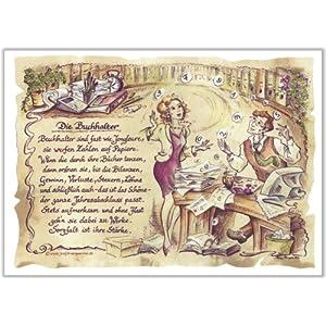 Geschenk Buchhalter Finanzbuchhaltung Zeichnung Color 20 x 15 cm
