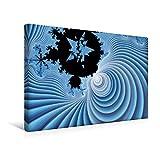 Premium Textil-Leinwand 45 cm x 30 cm quer, Blaue Winterzeit | Wandbild, Bild auf Keilrahmen, Fertigbild auf echter Leinwand, Leinwanddruck: Digitale Kunst in 3 D (CALVENDO Kunst)