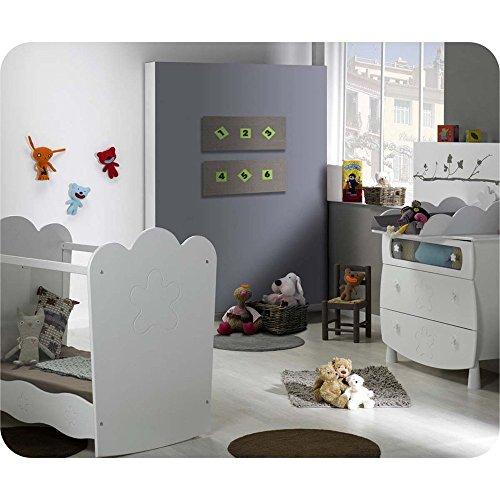 290f714866cfb9 Mini Babyzimmer Linea weiß mit Babybett mit durchsichtigen Seiten