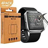 Fitbit Blaze Screen Protector,Yica 4 Pack Fitbit Blaze Tempered Glass Screen Protector [Bubble-Free] [Crystal Clear 9H Hardness] [Scratch-Resistant] Premium Tempered Glass for Fitbit Blaze Smart Fitness Watch