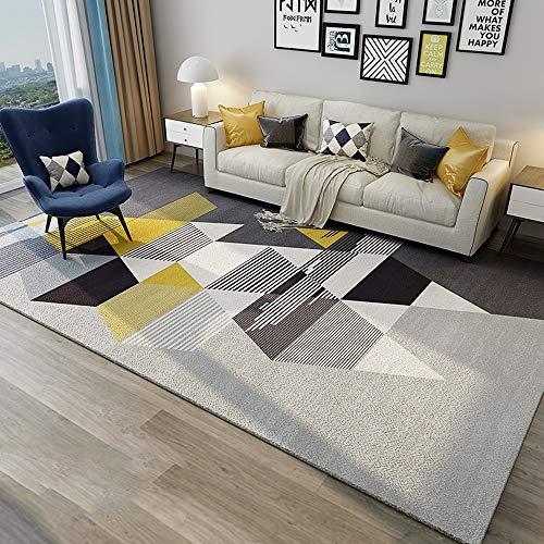 Sdhs Nordische Einfache Moderne Hauptbodenmatte des Wohnzimmertischschlafzimmers des Geometrischen Softeppichs Volle Geschäftsraumdecke Bettdecke (Farbe : A, größe : 1.6mx2.3m) (Voll Bettdecke)