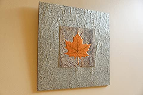 Natural Slate Wall Art - MAPLE LEAF