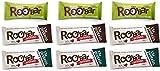 ROOBAR Protein-Set Rohkost-Riegel 3x 3 Sorten - 3x Hanfprotein & Chia, 3x Protein Chia & Chocolate, 3x Protein Chia & Spirulina (bio, roh, vegan, glutenfrei) Set Proteinx3