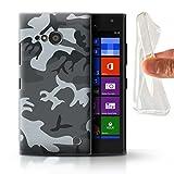 Stuff4® Gel TPU Hülle/Case für Nokia Lumia 730/Winternachtssoldat Muster/Militär Camouflage Tarnung Kollektion