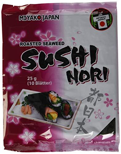 MIYAKO Seealgen, geröstet (Sushi Nori), 4er Pack (4 x 300 g)