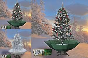 schneiender weihnachtsbaum 200cm schneefall tannenbaum k nstlicher schnee gr n. Black Bedroom Furniture Sets. Home Design Ideas