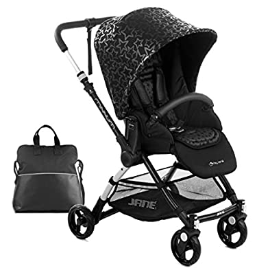 Jane minnum carrito de bebé, cochecito cochecito, ligero–Negro Estrellas
