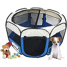 Todeco - Parque de Juegos para Mascotas, Parque para Animales Pequeños - Material: Poliéster