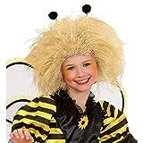 Perruque abeille bourdon mignon pour enfant cheveux ondulés elfe blond crinière de lion fête d'anniversaire carnaval des enfants accessoire déguisement